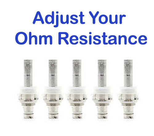 adjust your atomizer ohm resistance if you cough