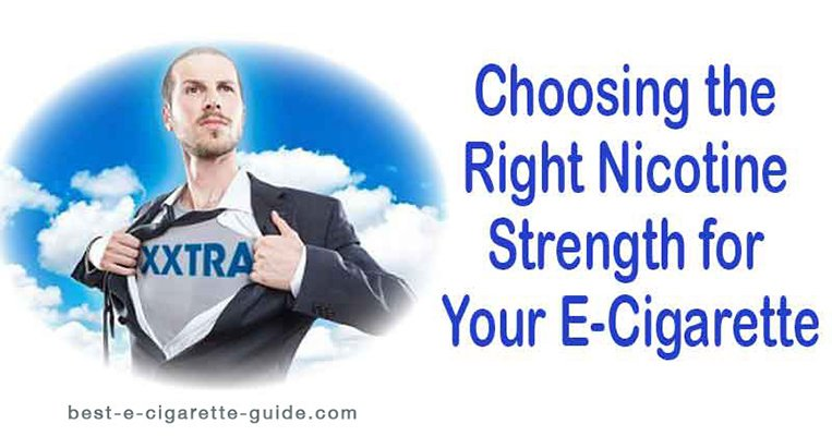 choosing the right nicotine strength for your ecigarette