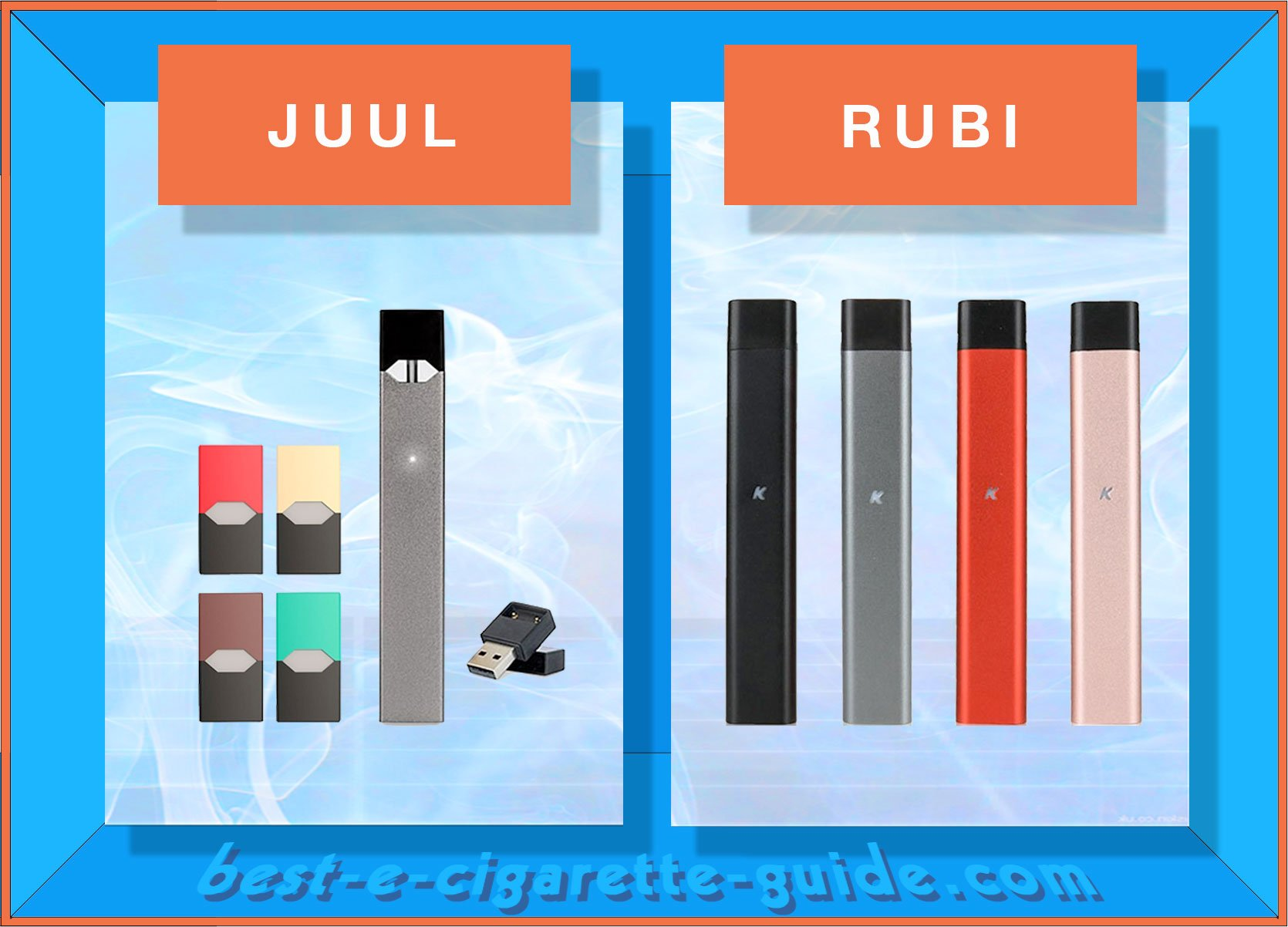 RUBI Vape Pod Pen vs JUUL - Which Ecig is a Better Choice